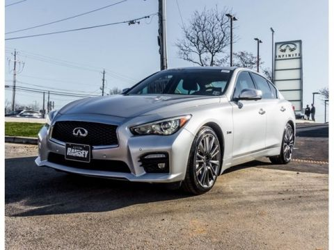 Certified Pre-Owned 2016 INFINITI Q50 Red Sport 400 AWD